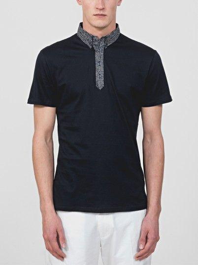 Polo Shirt Men Navy Blue Antony Morato MMKS01489FA100084