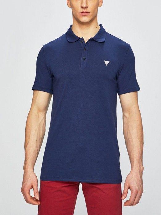896680f9 Polo Shirt Men Navy Blue Guess M92P18J1300 | Mellmak