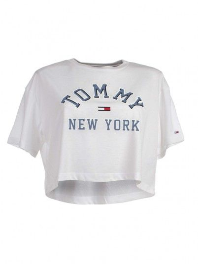 TOP MULHER COLLEGIATE TOMMY JEANS