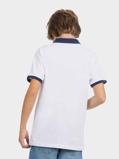 Polo Shirt Boy White Tiffosi Kids