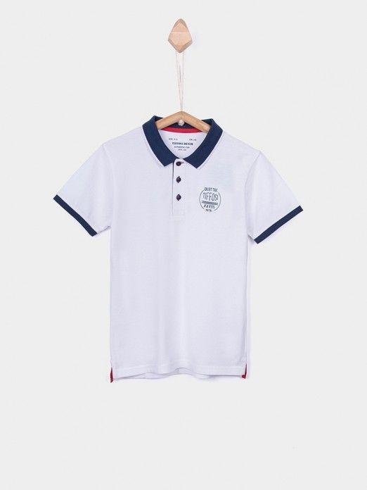 Polo Shirt Boy White Tiffosi Kids 10026371