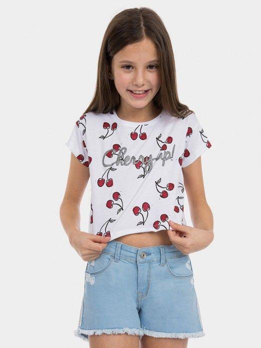 T-Shirt Girl White Tiffosi Kids