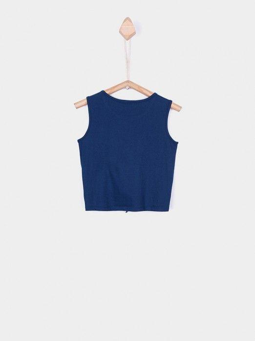 Shirt Girl Navy Blue Tiffosi Kids