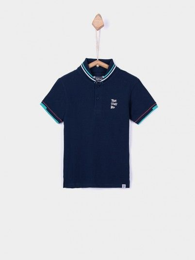 Polo Shirt Boy Navy Blue Tiffosi Kids