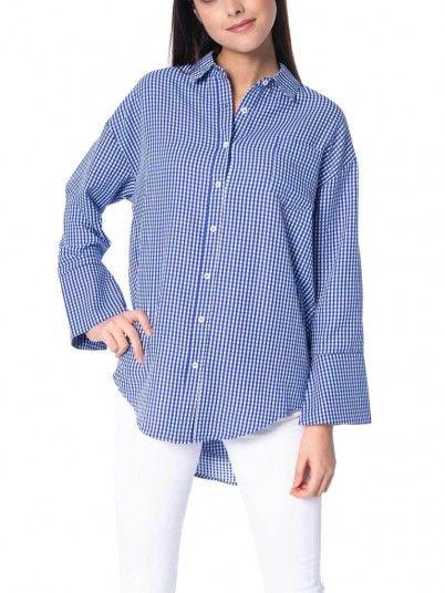 Camisas Mujer Azul Silvian Heach PGP19258CA