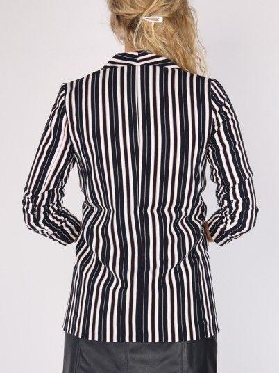 Blazer Woman Blue Stripe Only