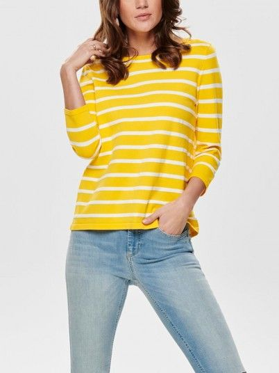 Knitwear Women Yellow Only 15170645