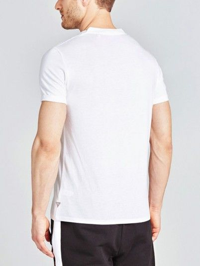 T-Shirt Men White Guess M91I57K8540