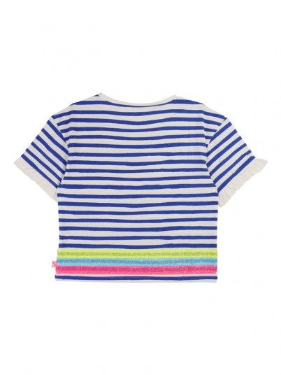 T-Shirt Girl Blue Stripe Billie Blush