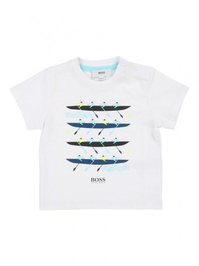 T-Shirt Bebé Niño Blanco Hugo Boss J05712