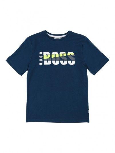 T-Shirt Boy Blue Hugo Boss J25D84