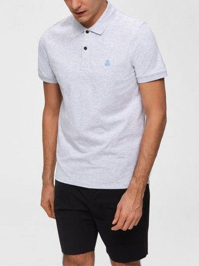 Polo Hombre Gris Selected N1916049517