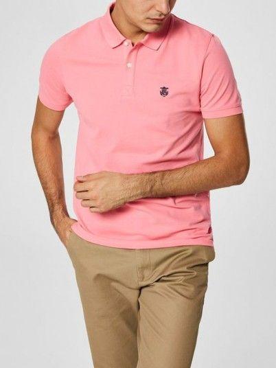 Polo Shirt Men Rose Selected N1916049517