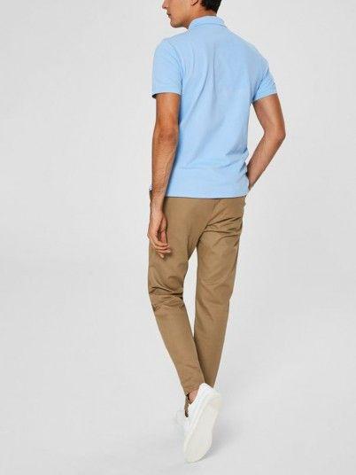 Polo Shirt Men Blue Selected N1916049517