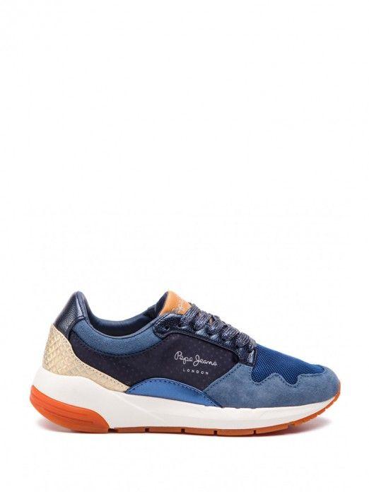 nuevo lanzamiento primera vista comprar mejor Zapatilla Mujer Azul Marino Pepe Jeans PLS30857 | Mellmak