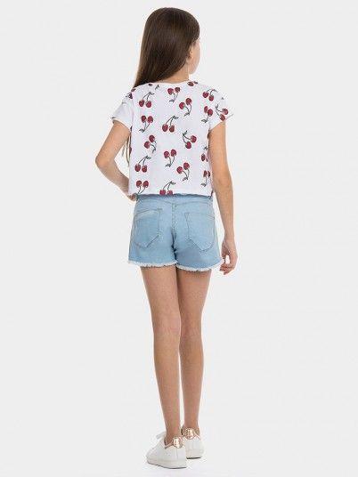 Pantalones Cortos Niña Jeans Ligeros Tiffosi Kids