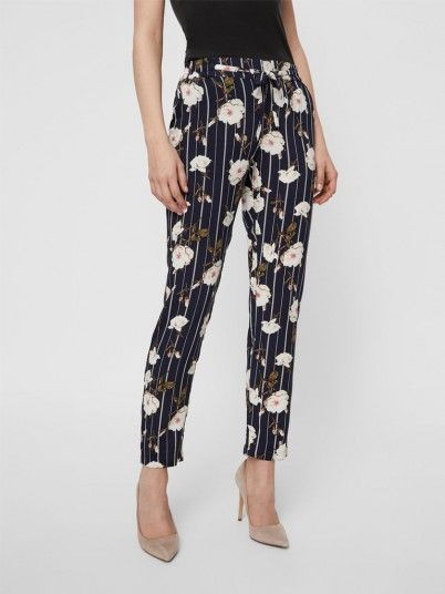 Pantalones Mujer Azul Marino Vero moda 10211475