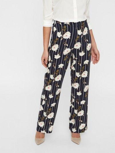 Pantalones Mujer Azul Marino Vero moda 10211476