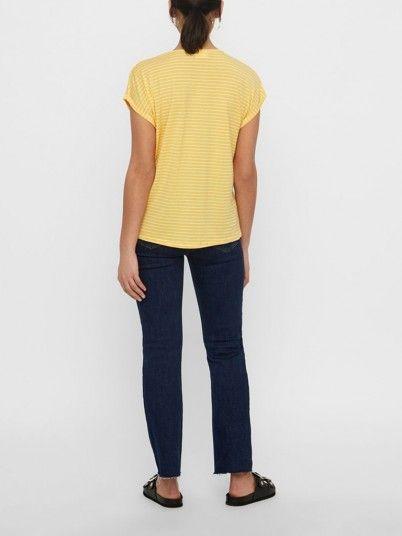 T-Shirt Mujer Amarillo Vero moda 10211654