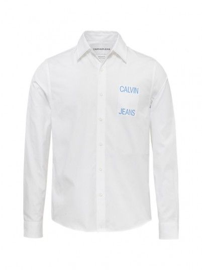 Shirt Man White Calvin Klein
