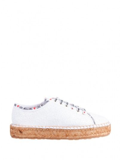 Sneakers Woman White Love Moschino