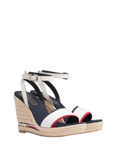 Sandals Women White Tommy FW0FW04075
