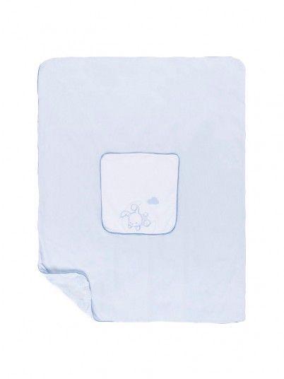 Manta Bebé Niña Azul Claro Mayoral 9901