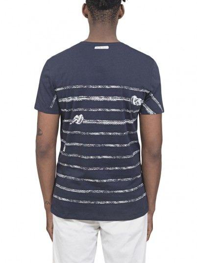 T-Shirt Hombre Azul Marino Antony Morato MMKS01525FA100186