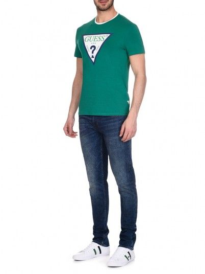 T-Shirt Men Green Guess M92I24J1300
