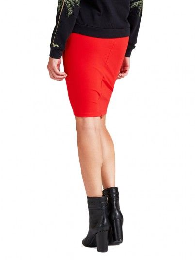 Falda Mujer Rojo Guess W92D76K8G10