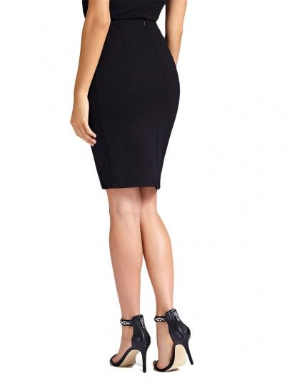 Falda Mujer Negro Guess W92D76K8G10