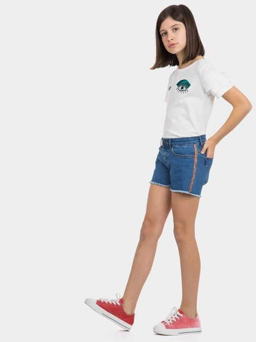 Shorts Girl Denim Tiffosi Kids 10026749