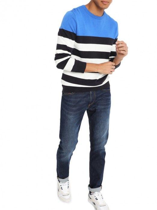 Knitwear Man Blue Produkt