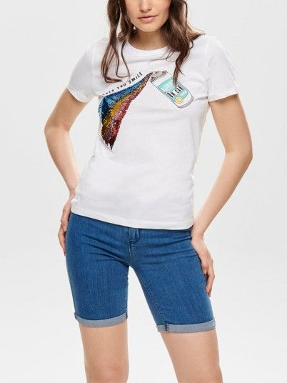 T-Shirt Mujer Blanco Only 15179459