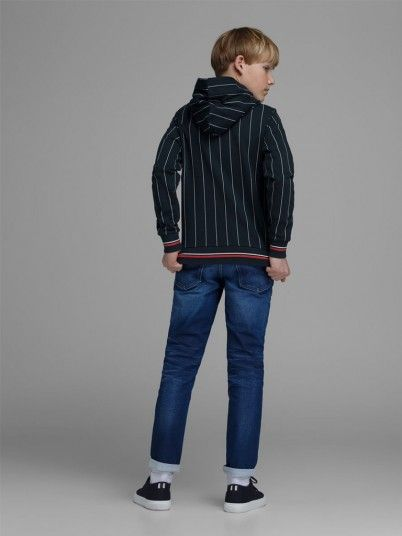 Sweatshirt Menino Pinstripe Jack Jones
