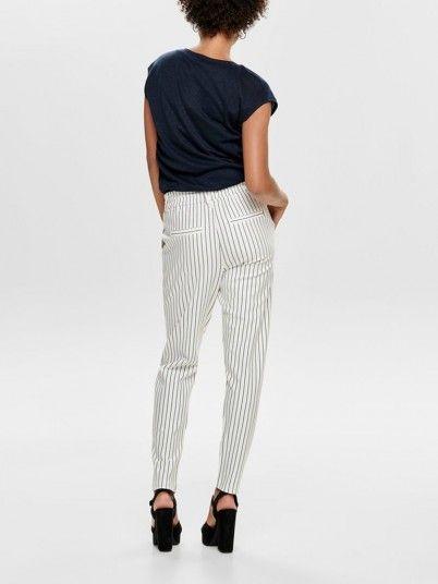 Pantalones Mujer Blanco Only 15176615
