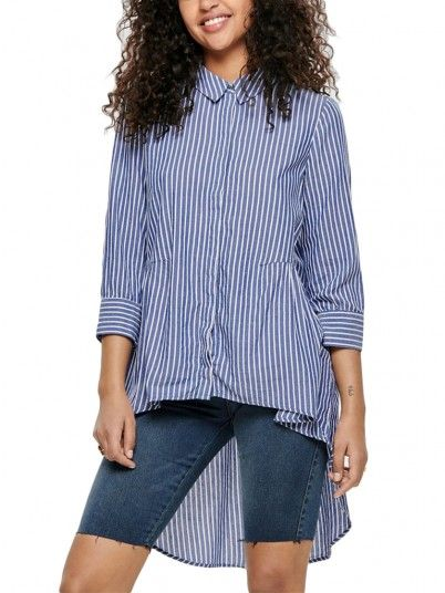 Camisas Mujer Azul Only 15177270