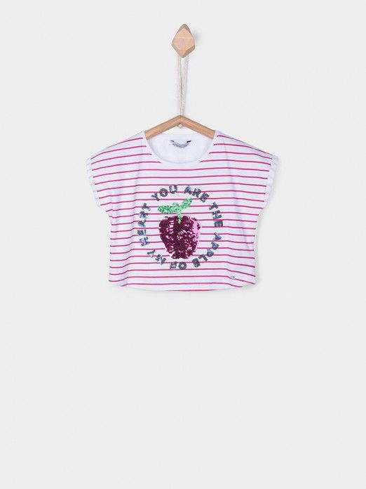 T-Shirt Girl Rose Tiffosi Kids