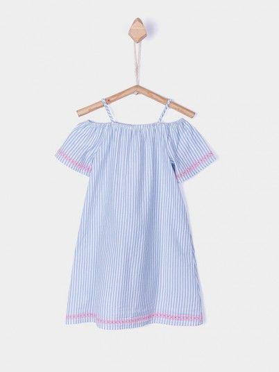 Dress Girl Blue Stripe Tiffosi Kids