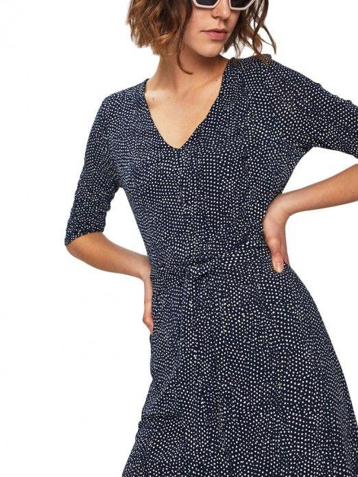 Dress Woman Dark Blue Vero Moda