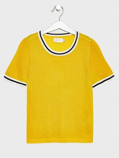 T-Shirt Girl Yellow Only 15178353