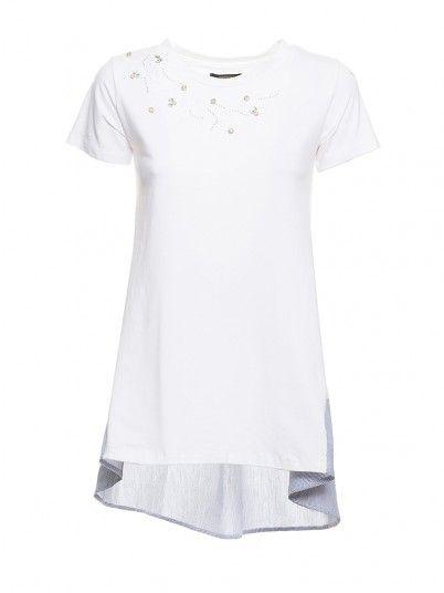 T-Shirt Women White Fracomina FR19SM300