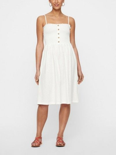 Dress Woman Cream Vero Moda