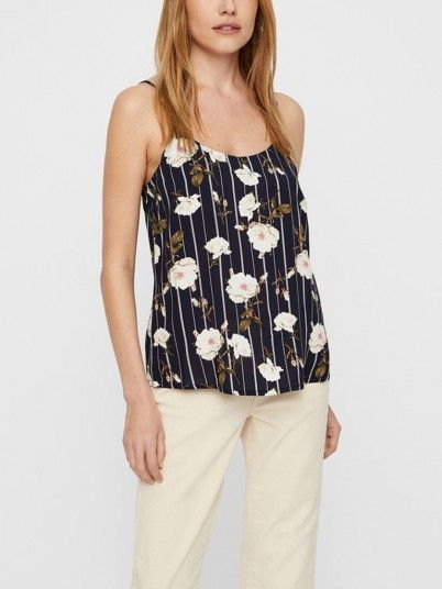 Top Women Navy Blue Vero moda 10211478