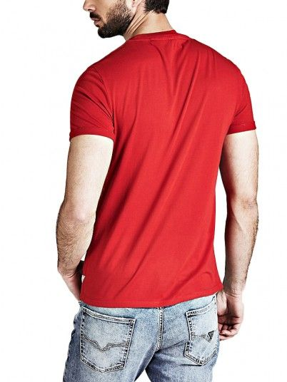 T-Shirt Men Red Guess M91I57K8540