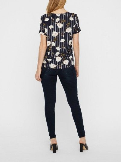 Top Women Navy Blue Vero moda 10211480