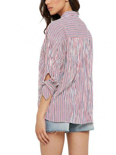 Camisas Mujer Raya Roja Only 15176409