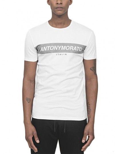 T-Shirt Men White Antony Morato MMKS01393FA120001