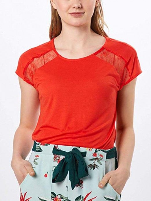 T-Shirt Woman Red Vero Moda