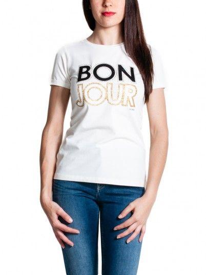 T-Shirt Mujer Crema Fracomina FR19SM025